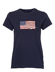 Flag Jersey Tee - CRUISE NAVY