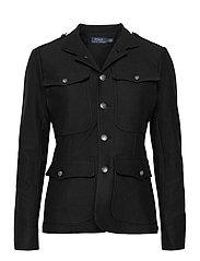Cotton Stretch Blazer - POLO BLACK