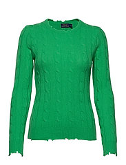 Distressed Cashmere Sweater - TILLER GREEN