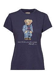 Polo Bear Crewneck Tee - CLASSIC ROYAL