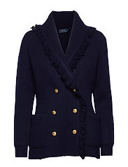 Wool-Blend Sweater Blazer - HUNTER NAVY