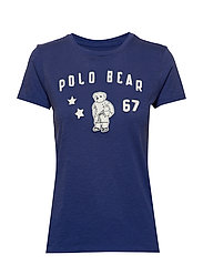 Polo Bear Patch Jersey Tee - ROYAL NAVY