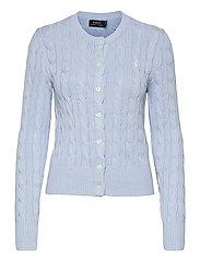 Cable-Knit Cotton Cardigan - PALE BLUE