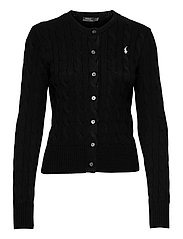Cable-Knit Cotton Cardigan - POLO BLACK