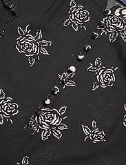 Polo Ralph Lauren - Rose-Print Crepe Blouse - short-sleeved blouses - black/white flora - 2