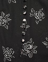 Polo Ralph Lauren - Rose-Print Crepe Blouse - short-sleeved blouses - black/white flora - 3