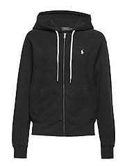Fleece Full-Zip Hoodie - POLO BLACK