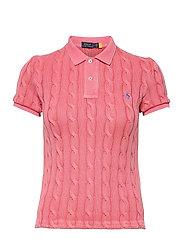 Cable-Knit Polo Shirt - RIBBON PINK