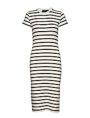 Striped Cotton Dress - NEVIS/ POLO BLACK