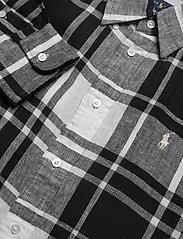 Polo Ralph Lauren - Plaid Linen Button-Down Shirt - long-sleeved shirts - 713 white/black - 2