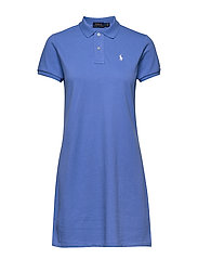 Cotton Polo Dress - HARBOR ISLAND BLU