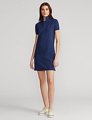 Polo Ralph Lauren - Cotton Polo Dress - hverdagskjoler - newport navy/c387 - 0