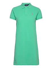 Cotton Polo Dress - SUNSET GREEN/C312