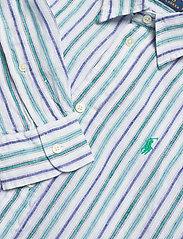 Polo Ralph Lauren - Striped Linen Shirt - long-sleeved shirts - 508 blue green/wh - 2