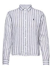 Striped Linen Shirt - 780 WHITE/ROYAL B