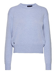 Wool-Blend Crewneck Sweater - LT BLUE HEATHER