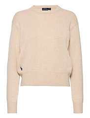 Wool-Blend Crewneck Sweater - TALLOW CREAM HEAT