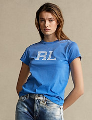Polo Ralph Lauren - RL Cotton Jersey Tee - t-shirts - colby blue - 0