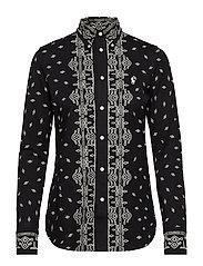 Bandanna-Print Cotton Shirt - NEW CLASSIC BLACK