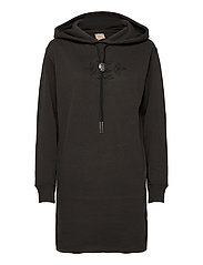 Bolo Fleece Hoodie Dress - BLACK MASK