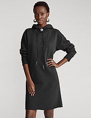 Polo Ralph Lauren - Bolo Fleece Hoodie Dress - midi dresses - black mask - 0