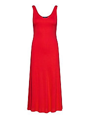Jersey Sleeveless Dress - AFRICAN RED