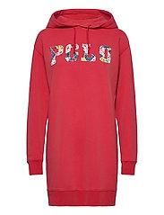 Fleece Hoodie Dress - STARBOARD RED