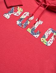 Polo Ralph Lauren - Fleece Hoodie Dress - midi dresses - starboard red - 3