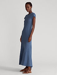 Polo Ralph Lauren - Cap-Sleeve Henley Dress - everyday dresses - river blue heathe - 0