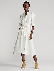 Polo Ralph Lauren - Silk A-Line Dress - midi dresses - clubhouse cream - 0