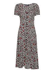 Floral Crepe Dress - 749 POPPY FIELD F