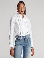 Polo Ralph Lauren - VINTAGE POPLIN-LSL-SHT - long sleeved blouses - white - 0