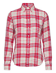 Plaid Cotton Twill Shirt - 768 FADED RED/CRE