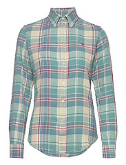 Plaid Cotton Twill Shirt - 770 FADED TEAL/CR