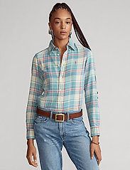 Polo Ralph Lauren - Plaid Cotton Twill Shirt - long-sleeved shirts - 770 faded teal/cr - 0