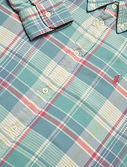Polo Ralph Lauren - Plaid Cotton Twill Shirt - long-sleeved shirts - 770 faded teal/cr - 3