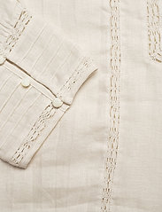 Polo Ralph Lauren - Lace-Trim Linen Blouse - long sleeved blouses - antique cream - 4