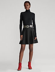 Polo Ralph Lauren - Cotton Broadcloth Skirt - midi skirts - polo black - 0