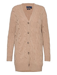 Cable-Knit Cashmere Cardigan - LUXURY BEIGE HEAT