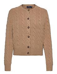 Buttoned Wool-Blend Cardigan - LUXURY BEIGE HEAT