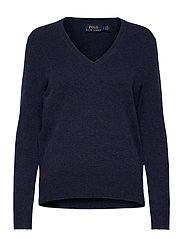 Wool-Blend V-Neck Sweater - BOATHOUSE NAVY HE