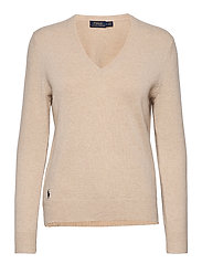 Wool-Blend V-Neck Sweater - TALLOW CREAM HEAT