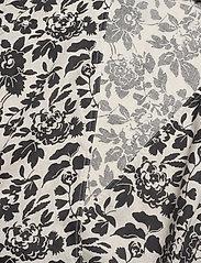 Polo Ralph Lauren - Floral Linen Wrap Blouse - short-sleeved blouses - 788 cream/black f - 3