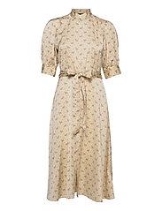 Floral Satin Dress - 793 GENTLE FLORAL
