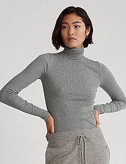 Polo Ralph Lauren - 36/1'S TENCEL RIB-LSL-KNT - turtlenecks - boulder grey heat - 0