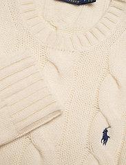 Polo Ralph Lauren - WOOL/CASHMERE BLEND-LSL-SWT - jumpers - cream - 3