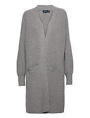Ribbed Wool-Blend Cardigan - FAWN GREY HEATHER