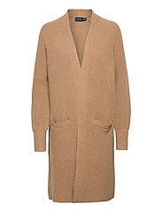 Ribbed Wool-Blend Cardigan - LUXURY BEIGE HEAT