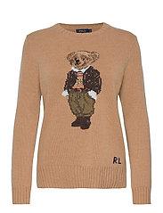 Polo Bear Wool-Blend Sweater - CAMEL MELANGE MUL
