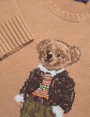 Polo Ralph Lauren - Polo Bear Wool-Blend Sweater - jumpers - camel melange mul - 3